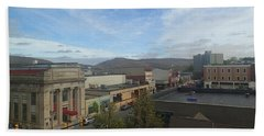 Main St To The Mountains   Hand Towel by Christina Verdgeline