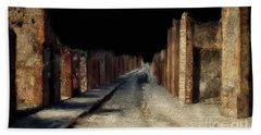 Hand Towel featuring the digital art Main Street, Pompeii by Lois Bryan