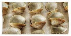 Maine Clam Shells Hand Towel