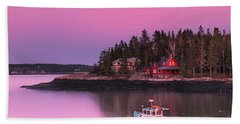 Maine Five Islands Coastal Sunset Hand Towel