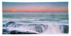 Maine Rocky Coastal Sunset Panorama Hand Towel