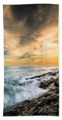 Maine Rocky Coastal Sunset Hand Towel