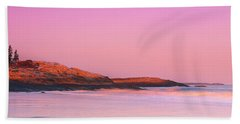 Maine Sheepscot River Bay With Cuckolds Lighthouse Sunset Panorama Bath Towel by Ranjay Mitra