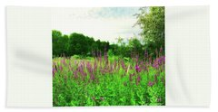 Maine Wildflowers Hand Towel