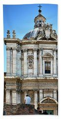 Bath Towel featuring the photograph Majestic Architecture In The Roman Forum by Eduardo Jose Accorinti