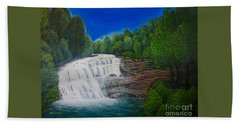 Majestic Bald River Falls Of Appalachia II Bath Towel by Kimberlee Baxter
