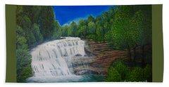 Majestic Bald River Falls Of Appalachia II Hand Towel