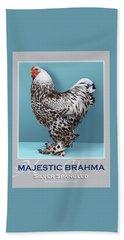 Majestic Brahma Silver Spangled Hand Towel