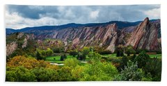 Bath Towel featuring the photograph Majestic Foothills by Kristal Kraft
