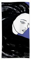 Majestic Lady J0715f J0715f Marina Blue Pastel Painting 17-4041 4f84c4 585fa8 Hand Towel