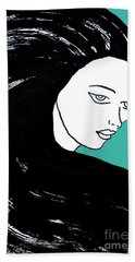Majestic Lady J0715k Turquoise Green Pastel Painting 15-5519 41b6ab Bath Towel
