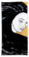 Majestic Lady Mimosa Yellow Pastel Painting 14-0848 F0b59 Bath Towel