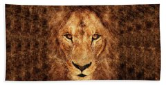 Majestic Lion Hand Towel by Anton Kalinichev