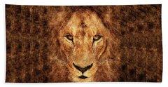 Majestic Lion Bath Towel by Anton Kalinichev