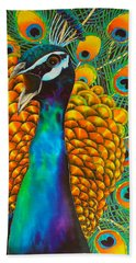 Majestic Peacock Hand Towel
