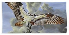 Hand Towel featuring the painting Majestic Sea Hawk by Phyllis Beiser