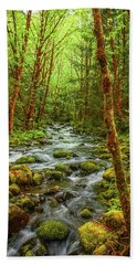 Majestic Stream Hand Towel by Tyra  OBryant