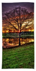 Majestic Sunrise Reflections Art Hand Towel