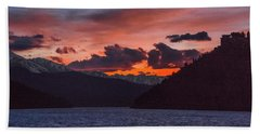 Majestic Sunset In Summit Cove Hand Towel by Stephen Johnson