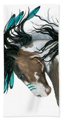 Majestic Turquoise Horse Hand Towel by AmyLyn Bihrle