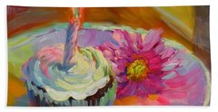 Hand Towel featuring the painting Make A Wish by Chris Brandley