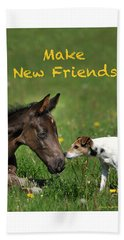 Make New Friends Hand Towel