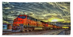 Make Way Resting B N S F Train Gallup New Mexico Art Bath Towel