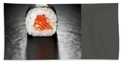 Maki Sushi Roll With Salmon Hand Towel