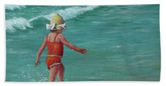 Bath Towel featuring the painting Making A Splash   by Susan DeLain