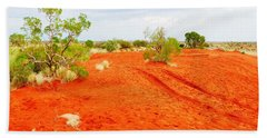 Making Tracks In The Dunes - Red Centre Australia Hand Towel