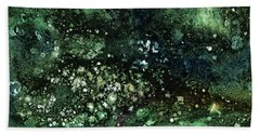 Malachite- Abstract Art By Linda Woods Hand Towel