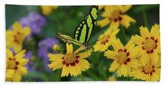 Malachite Butterfly Hand Towel