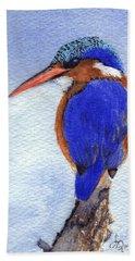 Malachite Kingfisher Bath Towel