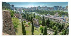 Malaga Skyline Spain Bath Towel