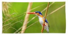 Malachite Kingfisher Hand Towel