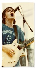 Malcolm Young Of Ac Dc At Day On The Green - July 1979 Hand Towel