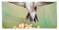 Male Black-chinned Hummingbird Hand Towel