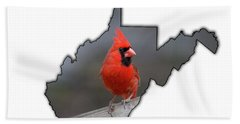 Bath Towel featuring the photograph Male Cardinal One Of The Most Recognizable Birds by Dan Friend