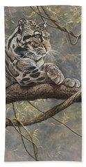 Male Clouded Leopard Bath Towel