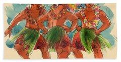 Male Dancers Of Lifuka, Tonga Hand Towel