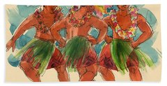 Male Dancers Of Lifuka, Tonga Bath Towel