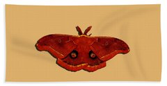 Hand Towel featuring the photograph Male Moth Red .png by Al Powell Photography USA