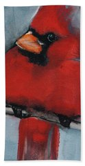 Male Northern Cardinal Bath Towel