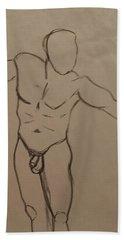 Male Nude Drawing 2 Hand Towel