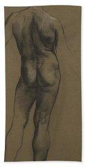 Male Nude Study Bath Towel