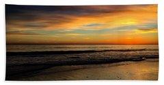 Malibu Beach Sunset Hand Towel