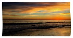 Malibu Beach Sunset Bath Towel by Chris Tarpening