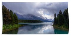 Maligne Lake Bath Towel