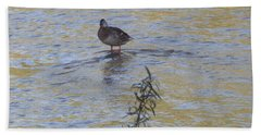 Mallard And The Branch Bath Towel