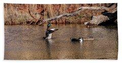 Mallard Duck Bath Towel by Doug Long